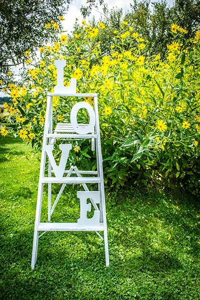BarnWeddingDecorLadder